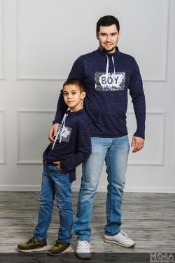 """Комплект джемперов для папы и сына """"BOY\GIRL"""""""