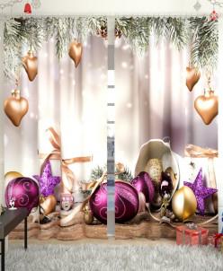 Фотошторы Новогодняя коллекция 105 Габардин