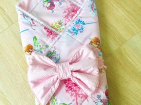 Конверт - одеяло на выписку из роддома для девочки