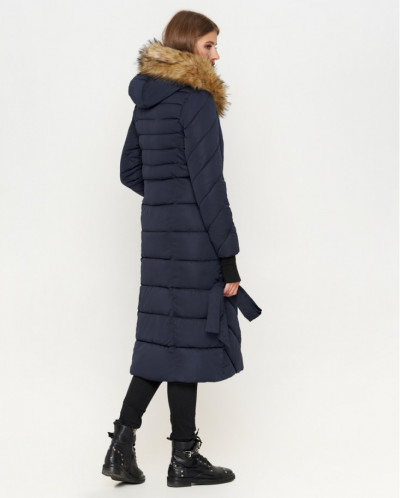 Синяя куртка современная женская модель 1763