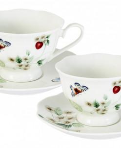 Набор: 2 чашки + 2 блюдца Ягодная поляна