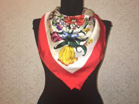 Шелковый шарф Gucci новый