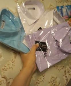 рубашка фтиолетовая пастель