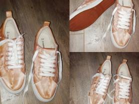 Кеды р. 37 (24см) атласные цвет персиковый
