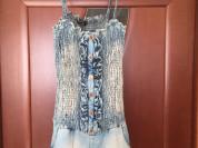 Комбинезон Celyn b М 46 44 27 б/у с шортами джинсовый голубой хлопок коттон на резине