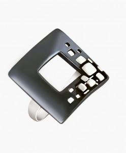 Кольцо из серебра Анкара с нанокерамикой Юмила