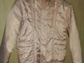 Куртка осенняя розовая р.44-46, бу