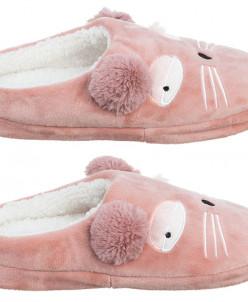 """Тапочки домашние 40 размер """"Кошка розовая"""" (размер подошвы -"""