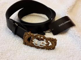 Ремень Dolce&Gabbana новый кожа размер 100 цвет че