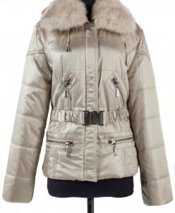 05-0747 Куртка зимняя (Синтепон 200) пояс Плащевка Бежевый