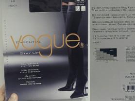 Чулки новые Vogue размер 44 56 M чёрные на резинке плотные