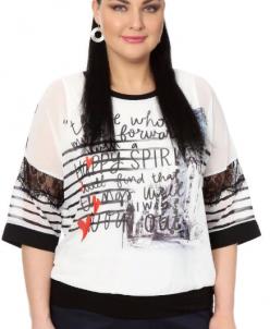 Блузка белая с принтом 334527