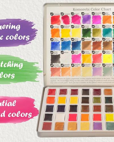Artist Watercolor Paint Set - 40 Colors