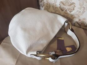 Новая стильная белая кожаная сумка Италия оригинал