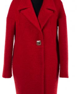 01-6359 Пальто женское демисезонное Букле Красный