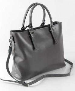 Женская кожаная сумка 28779 Серый