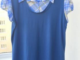 Комбинированная блузка Janette Plus USA p.3хl нова