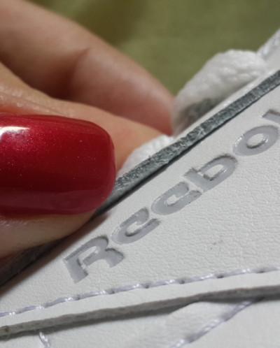 Кроссовки Reebok(копия) натур. кожа  - белые Женские