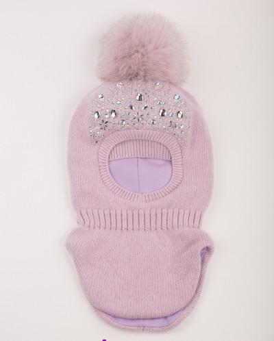Шапка -шлем детская с утеплителем на х/б подкладке разные цв