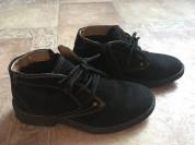 Замшевые ботинки внутри мех