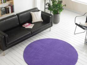 Фиолетовый ковер круглой формы Pin 150 х 150 см