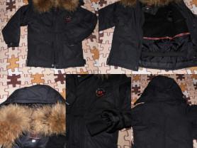 Новая Куртка с натуральным мехом Енот пышный (отст