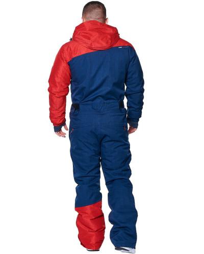 Комбинезон мужской Snow Headquarter A-8655, Сине-красный