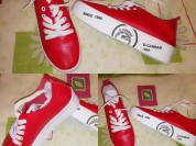 Новые кеды слипоны р. 37 красные, мягкие на шнуров