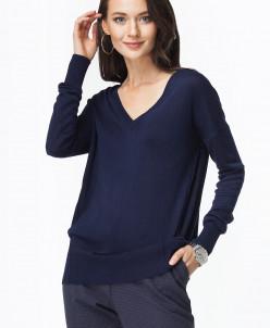 Меланжевый пуловер с тонкими блестящими нитями