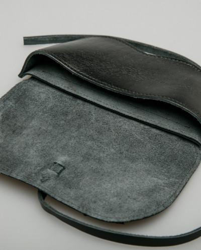 Чехол для очков 100% кожа чёрный, Монголия