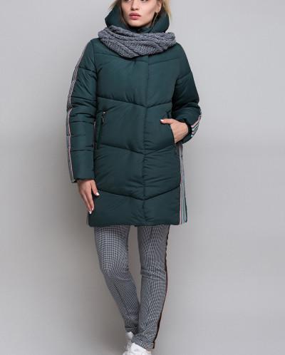 Куртка Зимняя Для Девочки «ZKD-7» в комплекте со снудом