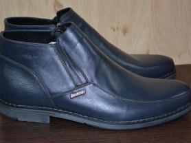новые ботинки деми нат кожа/байка р 41 (идут на 42
