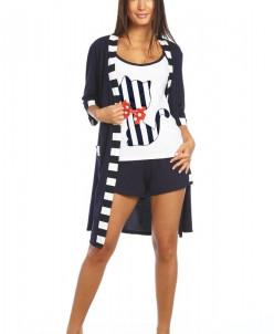 Комплект женский Сюрприз (шорты с топом и халат)