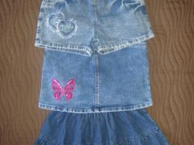 Джинсовые шорты, юбки д/д на 4-6лет.