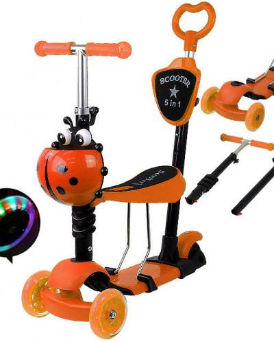 """Детский самокат - Scooter mini 5 в 1 """"Божья коровка"""""""