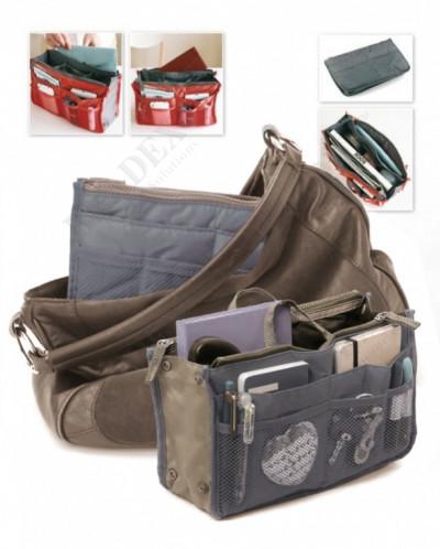 Органайзер для сумки «СУМКА В СУМКЕ» цвет серый (Organizer f