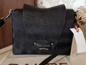Новая черная сумка кроссбоди кожа Италия