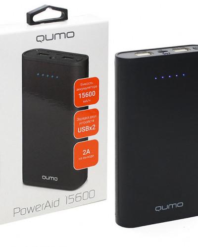 Внешний аккумулятор QUMO 15600 mAh/2 usb порта