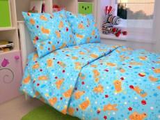 ПБ Бязь стандарт в кроватку «Мишки голубые»