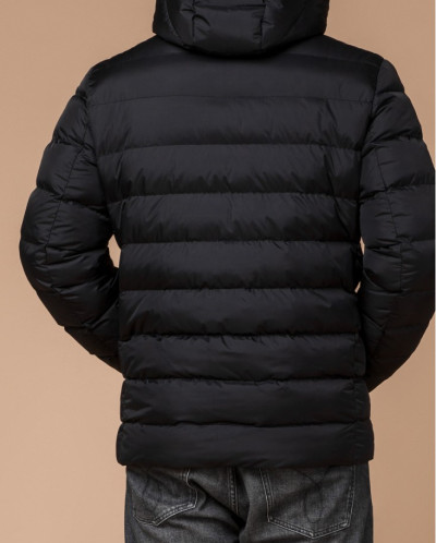 Фирменная куртка на зиму цвет черный модель 42180