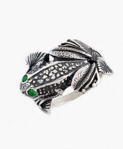 Кольцо из серебра Лягушка Юмила