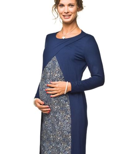 Sukienka ciążowa i do karmienia Ivon granat-krem