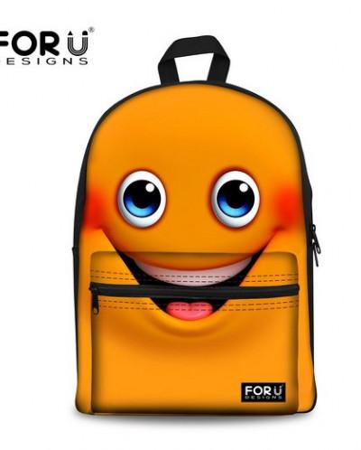 For U Designs Vintage Style Bag Cute Emoji Bag