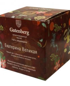 Чай Gutenberg черный ароматизир в пирамидке Екатерина Велика