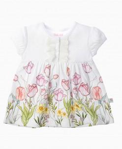 """Тюльпаны"" Платье  для девочки  ZBB 14142-W"