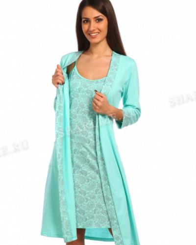 Комплект (сорочка+ халат)