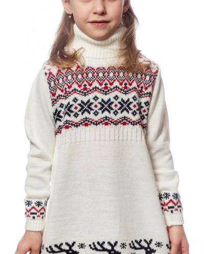9207 Платье для дев. (бело-красный)