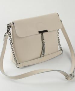 Женская кожаная сумка 10597 Бежевый