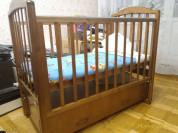 Детская кровать +матрас  б.у,в отличном состоянии