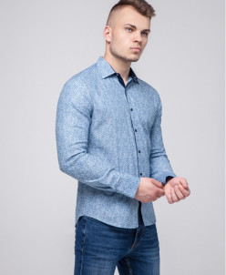 Рубашка молодежная Semco голубая практичная модель
